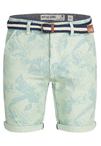 Indicode Herren Curtain Chino Bermuda Shorts Blumenprint Surf Spray L -