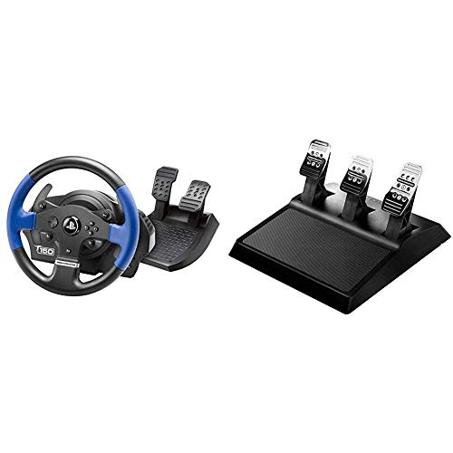 Thrustmaster T150 Force Feedback Volante - PS4/PS3/PC + THRUSTMASTER T3pa 3 Pedaliera Add On - PC/PS4/PS3/Xbox One