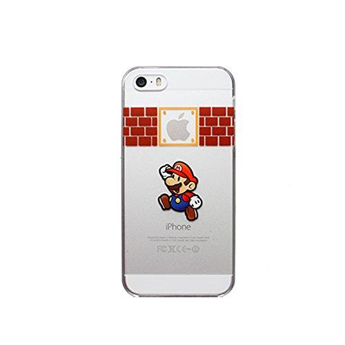 Coque souple en TPU avec motif de personnages de dessin animé Disney et super-héros pour Apple iPhone 5/5S, 6 et 6 Plus Transparent , plastique, MARIO1, APPLE IPHONE 6+