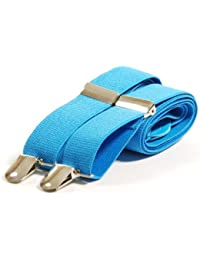 Plain Coloured Trouser Suspenders Braces
