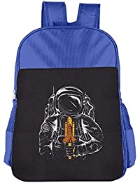 Funny Space Astronauts Children School Backpack Carry Bag For Kids Boy Girl