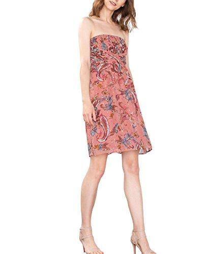 ESPRIT Collection Damen 076EO1E029 Kleid, Mehrfarbig (GOLDEN ORANGE 2 831), 44