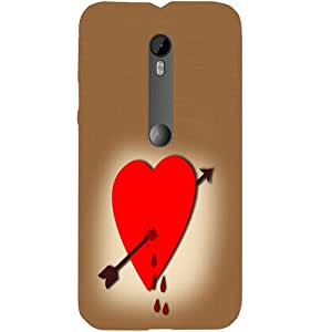 Casotec Heart Design Hard Back Case Cover for Motorola Moto G 3rd Generation