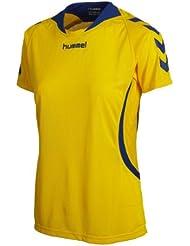 Hummel Team Player - Camiseta para mujer, tamaño XL, color amarillo / azul