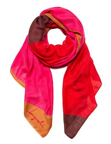 desigual foulard s-patch sciarpa, rosso (rojo loft 3088), unica (taglia produttore: u) donna