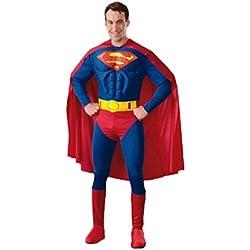 erdbeerloft–Disfraz hombre Superman con capa, muscular de Jumpsuit, überziehstiefel y cinturón, S de l, color azul azul Ancho 25 cm x Altura 14 cm x Profundidad 6 cm