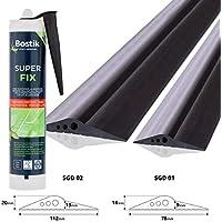 STEIGNER Junta de Garaje con Adhesivo de Montaje Umbral de Garaje de EPDM 3 m 14 mm x 78 mm SGD01