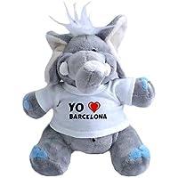 Elefante de peluche (juguete) con Amo Barcelona en la camiseta (ciudad / asentamiento
