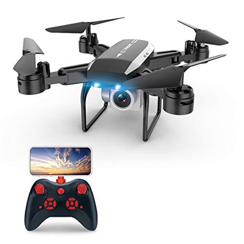 Sixcup® KY606DW Klappbarer Quadcopter,RC Quadcopter Drohne Mit Faltbare WiFi FPV, 4K HD Echtzeitkamera Selfie Drohne ,Lange Akkulaufzeit Falten Vierachsigen Flugzeugen (Black) (Sie Rc-flugzeug Bauen Einen)