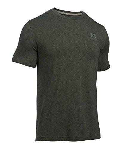 Under Armour Herren Fitness Cc Left Chest Lockup Kurzarm T-Shirt, Grün (Artillery Green Medium Heather /  / Tan Stone), Medium (Green Heather-crew-t-shirt)