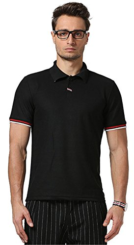 Whatlees Herren Urban Basic schmale Passform Polohemd Shirts mit Bunt Bahnen Design...