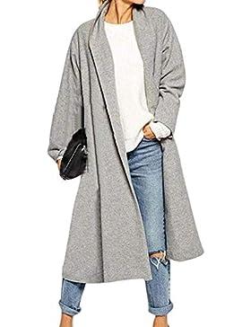 BOLAWOO Cardigan Mujer Largos Fashion Elegantes Talla Grande Chaqueta De Punto Otoño Mode De Marca Invierno Cómodo...
