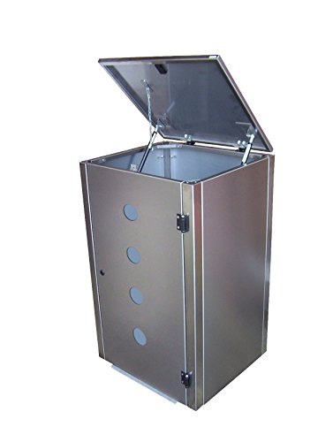 Mülltonnenbox Edelstahl, Modell Eleganza Circ, 240 Liter als Zweierbox - 2