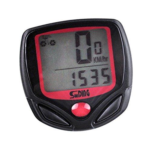 Kloius Cuentakilómetros para Bicicleta LCD Velocimetro Bicicleta Impermeable Ordenador de Bicicleta
