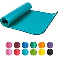 Gorilla Sports–Tappetino da yoga, Tappetino da yoga, colori asortiti, Blu, 190 x 60 x 1.5 cm
