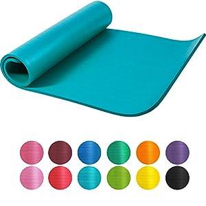 GORILLA SPORTS Yogamatte 190 x 60 x 1,5 cm / 190 x 100 x 1,5 cm XL extra dick – Gymnastikmatte in 12 verschiedenen Farben, rutschfest und phthalatfrei