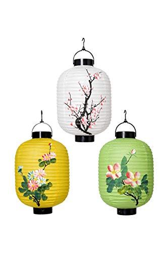 Widmann Orientalische Laternen, 20 cm, Zubehör für orientalische chinesische - Surtido Kostüm