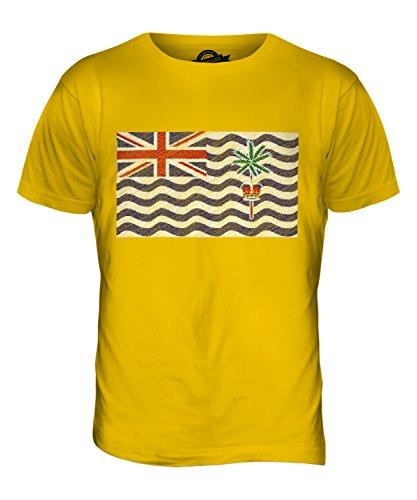 CandyMix Britisches Territorium Im Indischen Ozean Kritzelte Flagge Herren  T Shirt Dunkelgelb