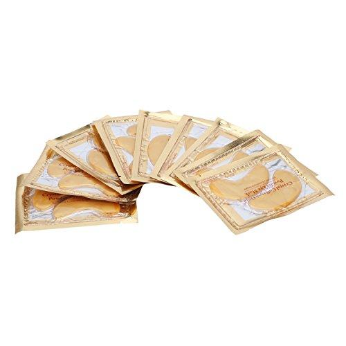 Pinzhi -10PCS Papier Masque des Yeux Cristal Collagène Or Soin Anti-âge Anti-Rides Hydratant Profond Femme Cosmétique
