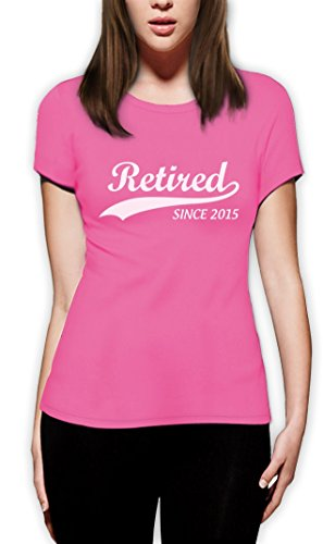 Retired Since 2015 Ruhestandsmotiv Frauen T-Shirt Rosa