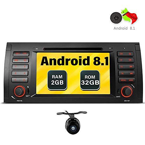 """Freeauto Stéréo Android 8.1 pour BMW E39 E53 M5 X5 Autoradio Audio 7""""Lecteur de DVD Quad Core avec GPS Écran Multi-Touch Radio CD Lecteur de DVD GPS 1080P Écran vidéo en Miroir OBD2 WiFi"""