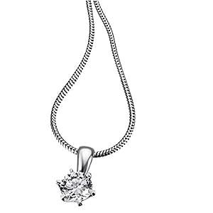 Goldmaid Damen-Halskette 925 Sterling Silber 1 Zirkonia farblos 45 cm ZI C3992S