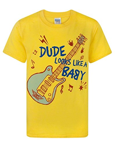 Aerosmith - Camiseta de manga corta - Manga corta - para niño amarillo amarillo 7-8 Años