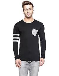 New Trendy Gespo Black Round Neck Full Sleeves T Shirt