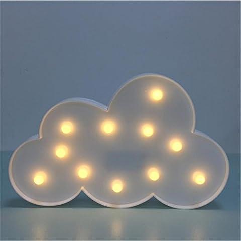 Lampe de Table Enfants Led Night Light Clouds Shape Lampe de bureau Batterie pour enfants Bébé Adultes Chambre à coucher Décoration d'intérieur Fête d'anniversaire Jouets Cadeaux Décoration murale Mood Lampe de table
