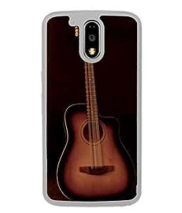 PrintVisa Designer Back Case Cover for Moto G Play (4th Gen) :: Motorola Moto G4 Play (The Cute Guitar In Colourful Design)
