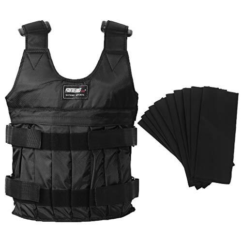 Kofun - Gilet zavorrato, 20 kg, Regolabile, Durevole, con Pesi, per Allenamento, Fitness, Boxe, Gilet