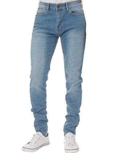 Kruze Mens Designer Casual Branded Denim Stretch Super Skinny Jeans Pants