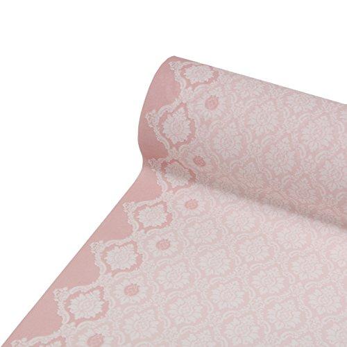 �ufer Mandy | Linclass® Airlaid Tischläufer 40cm x 24m | Tischdecken-Rolle stoffähnlich | Einmal-Tischdecke für Hochzeit & Partys | Rosa ()