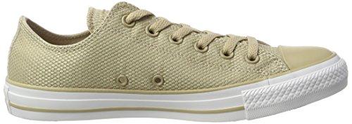 Converse Unisex-Erwachsene Tech Deboss Sneaker Mehrfarbig (Vintage Khaki/White/Brown)