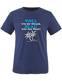 VOLL wie der Strand - BLAU wie das Meer! - Herren Unisex T-Shirt Gr. S bis XXL Versch. Farben