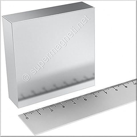 Super aimant Parallélépipède en néodyme 70x 70x 20mm. Puissance 350kg. Eau magnetizzata magnétothérapie Climsom
