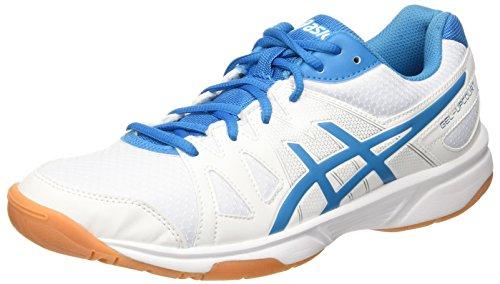 Asics Herren Gel-Upcourt Volleyballschuhe Mehrfarbig (White / Blue Jewel / White)