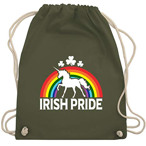 rish Pride - Unisize - Olivgrün - WM110 - Turnbeutel & Gym Bag ()