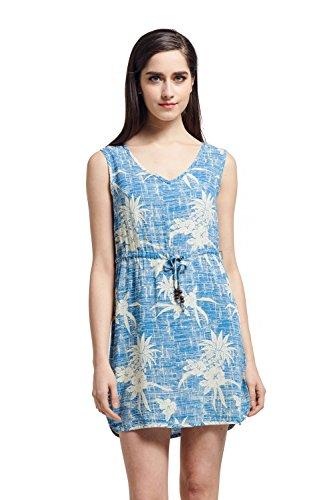 Hawaii Hangover Tunika-Slip auf Luau-Kleid mit Krawatte im Weinlese Ananas (Kleid Luau)