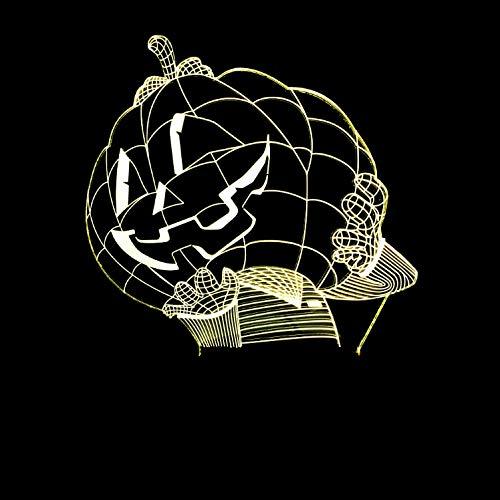 licht 3D optische Täuschung Lampe Kürbis Mann Led Kürbis Hut Tisch 7 Farben Atmosphäre Baby Schlaf Lichter Urlaub Geschenk Nacht Dekor ()