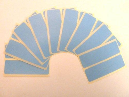 18 Etiquetas, 80x25mm Rectangulo,azul claro, extraible / adherencia BAJA código de color PEGATINAS, autoadhesivo Adhesivo Etiquetas Colores