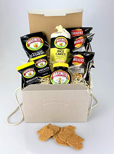 Love it or Hate it MARMITE Hamper Food Gift Box - Nuts, Crisps, Biscuits etc - Unique Gift