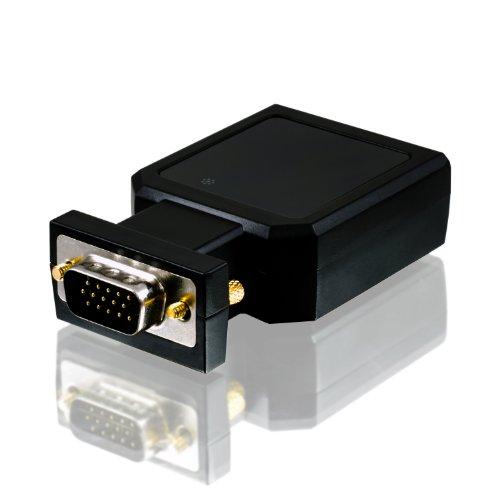 CSL - VGA zu HDMI Konverter   Full HD 1080p   Wandler von analog zu digital   1:1 Übertragung   HDTV / Beamer Dvi Hdcp Hdtv