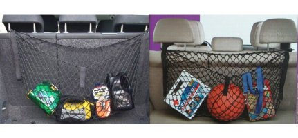 mitef Trunk Netz Dach Gepäck Net Storage Net Organizer Mesh Heavy Duty Fracht Halterung für Lebensmittel, Kinder Spielzeug Schwarz 110cm L x 40cm W -