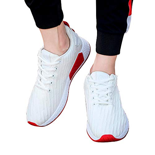 Beikoard -20% anfibi donne uomini mesh shallow mouth cross tied scarpe casual scarpe da ginnastica scarpe da skate(bianco,44)