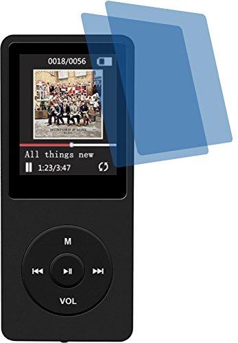 2x Crystal clear klar Schutzfolie für AGPTek 16GB MP3-Player Premium Displayschutzfolie Bildschirmschutzfolie Schutzhülle Displayschutz Displayfolie Folie
