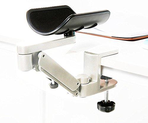 Preisvergleich Produktbild Fiona Armauflage Aluminium Einstellbare Satisfy Computerstandrahmen,  Computer- Schreibtisch aufsteckbare Unterarmstütze für komfortable Arbeit am Computer