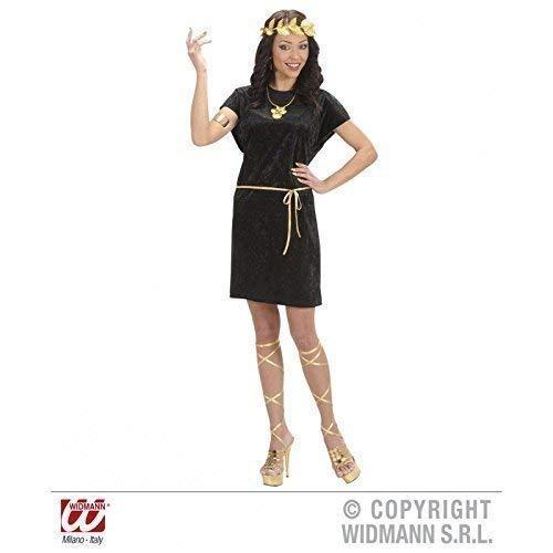 Childs Römischen Toga Kostüm - Lively Moments Schwarze Tunika Dark Tunic für Frauen und Männer Kostüm Gr. L / Unisex