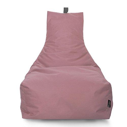 BuBiBag LOUNGE Sitzsack Sitzkissen XXL Tobekissen Bodenkissen Beanbag Kissen, für Kinder und Erwachsene (Puderrosa)