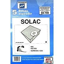 910755 - Bolsa aspirador papel solac 935-936 thogar 5 pz 910755